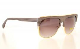 Occhiali da sole uomo marroni profilo metallo oro man sunglasses gafas de sol Z4