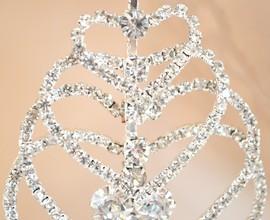 ORECCHINI ARGENTO donna CUORI strass CRISTALLI eleganti SPOSA cerimonia san valentino H24
