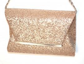 POCHETTE donna ORO borsello cerimonia brillantini borsa elegante clutch bag A8