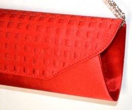 POCHETTE ROSSA donna borsello elegante borsa cerimonia da sera clutch bag A24