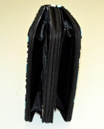 PORTAFOGLIO donna nero azzurro celeste bianco borsello vernice lucida colorato G78