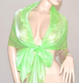 STOLA donna CERIMONIA foulard MAXI coprispalle VERDE CHIARO fluo elegante abito\vestito da sera F5