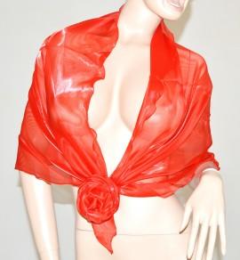 STOLA ROSSA MAXI foulard cerimonia donna coprispalle elegante tinta unita abito vestito da sera F5