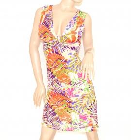 39f81be0c581 ABITO donna VESTITO miniabito abitino colorato estivo VISCOSA floreale MINI  DRESS kleid 58