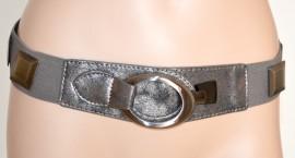 CINTURA donna stringivita GRIGIO ARGENTO pelle bustino elastico argento Fibbia metallo 250