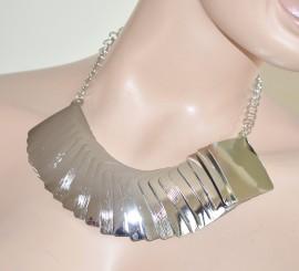 Collana donna girocollo argento rombo sexy elegante cerimonia collar 120