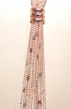 COLLANA LUNGA donna ORO ROSA catena multi fili collier elegante necklace G46