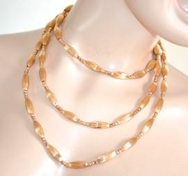 COLLANA LUNGA ORO girocollo dorato donna elegante cerimonia collier colar F215