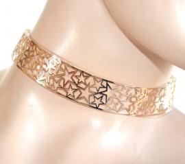 COLLANA ORO collarino girocollo donna ragazza rigido stelle sexy idea regalo F99