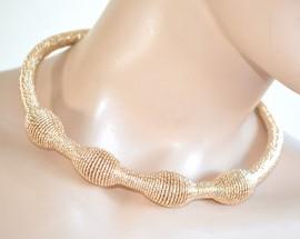 COLLANA SEXY COLLARINO donna DIAMANTATO girocollo dorato ORO collar ожерелье 705