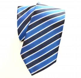 CRAVATTA uomo classica raso BLU a righe ELEGANTE cerimonia Tie Cravate Lazo Laço 20