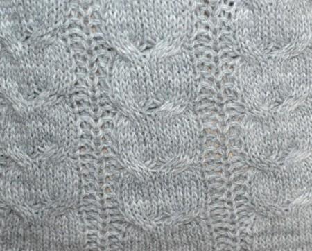 MAGLIONE GRIGIO donna lana manica lunga maglia collo alto trecce made in Italy G66