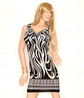 best cheap dbb35 debff MINIABITO con cintura oro donna vestito abito tubino nero\bianco estivo  elastico sexy 72