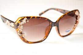 Occhiali da sole donna MARRONI maculati fiori eleganti lenti floreali lunettes gafas 125