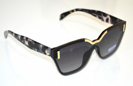OCCHIALI da SOLE donna NERI ORO lenti aste maculate sunglasses темные очки BB26