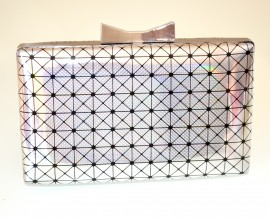 POCHETTE donna ARGENTO  borsa borsello clutch bag elegante cerimonia sac E115