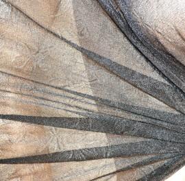 STOLA NERA coprispalle foulard donna scialle seta velato elegante cerimonia A24