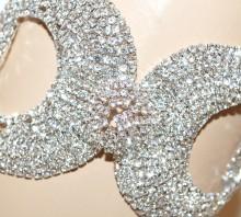 BRACCIALE ARGENTO strass donna cristalli cerchi avambraccio sposa cerimonia G66