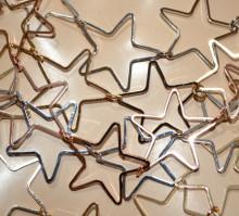 COLLANA donna girocollo ciondoli stelle oro rosa argento collier collar GP30