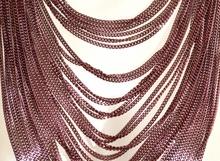 COLLANA LUNGA donna rosa catena multi fili pendenti elegante collier necklace G44