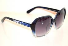 OCCHIALI da SOLE BLU azzurri donna lenti aste strass brillantini Sonnenbrille G5