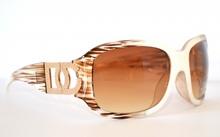 OCCHIALI da SOLE donna eleganti BIANCO MARRONE lenti sunglesses lunettes темные очки 40