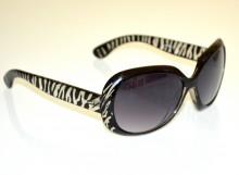 OCCHIALI da SOLE NERI BIANCHI donna zebrati maculati lenti ovali sunglasses G20