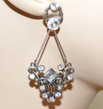 ORECCHINI ARGENTO strass cristalli donna pendenti etnici regalo ragazza CC18