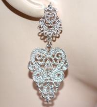 ORECCHINI donna argento pendenti stile etnico ragazza idea regalo boucles A39