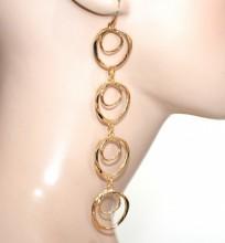 ORECCHINI donna cerchi pendenti lunghi oro boucles d'oreilles pendientes CC136