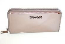 PORTAFOGLIO mini borsello donna GRIGIO metallizzato pochette clutch bag F30