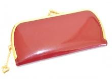 PORTAFOGLIO ROSSO donna oro ciondolo strass vernice lucida ecopelle borsello per borsa Z18