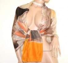 SCIARPA Stola donna Arancio Beige Sabbia Tortora Marrone maxi foulard coprispalle scialle viscosa Schal D20