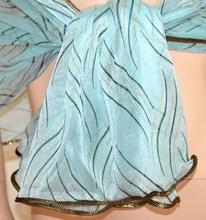 STOLA AZZURRA  NERA ORO scialle coprispalle donna maxi foulard velato cerimonia A50