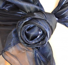 STOLA BLU MAXI coprispalle foulard donna cerimonia scialle elegante abito da sera damigella F5