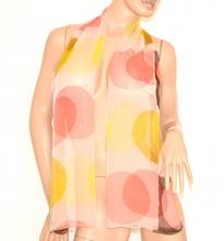 STOLA coprispalle donna cerimonia foulard elegante seta trasparente fantasia colorata 160U