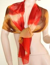 Stola Coprispalle donna elegante per abito da sera\cerimonia marrone e rosso