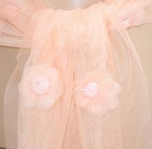 STOLA donna CORALLO elegante foulard velato DAMIGELLA coprispalle cerimonia matrimonio floreale 95X