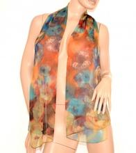 STOLA donna foulard coprispalle seta velato floreale cerimonia fantasia elegante 160E