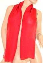 Stola foulard donna cerimonia velata elegante coprispalle seta x vestito da sera rosso 100E