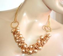 COLLANA donna oro dorata girocollo satinata lucida collier catena cerimonia A88