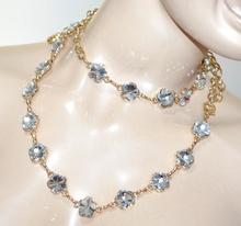 CINTURA GIOIELLO donna ORO dorata cristalli fiori metallo elegante cerimonia A44
