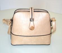 BORSA donna BEIGE TAUPE borsello bauletto eco pelle oro tracolla pochette bolsa G97