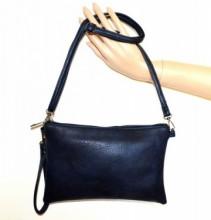 BORSELLO BLU donna borsa eco pelle borsetta pochette tracolla a mano spalla G84