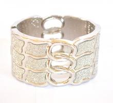 BRACCIALE donna RIGIDO ARGENTO sexy BRILLANTINATO pulsera bracelet браслет 590