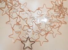 COLLANA donna ciondoli stelle oro rosa argento platino girocollo charms collier GP30
