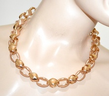 COLLANA girocollo catena oro dorata donna collier lucida satinata elegante A19