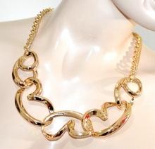 COLLANA girocollo oro dorato cuori catena collier cerimonia san valentino G22
