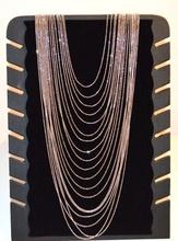 COLLANA LUNGA donna ARGENTO elegante MULTI FILI diamantata cerimonia sfere collier C330