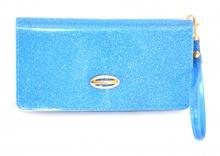 Mini Pochette BORSELLO donna AZZURRO PORTAFOGLIO Borsellino da Borsa Clutch 910D